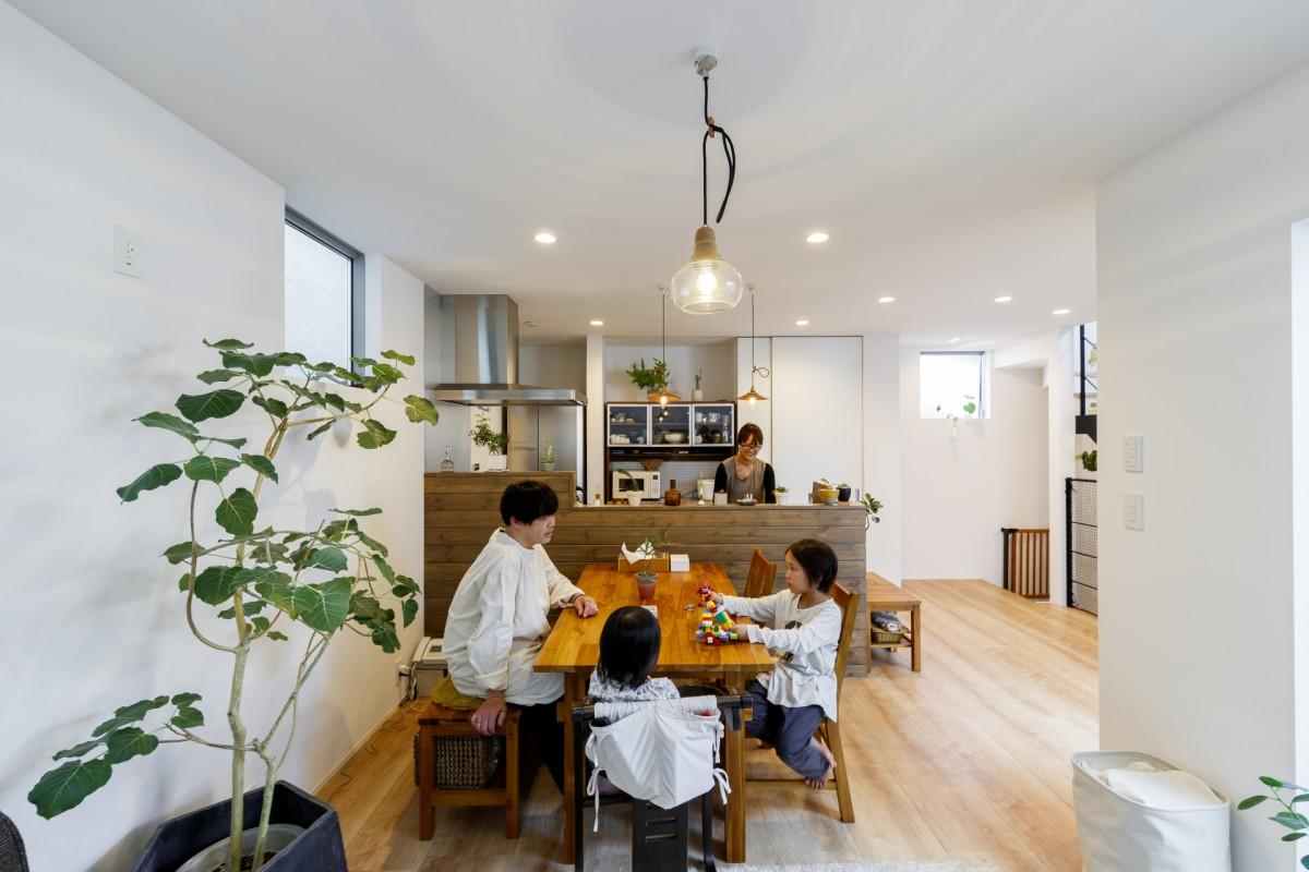 敷地19坪 無駄のないシンプルな空間に木と緑が映える家