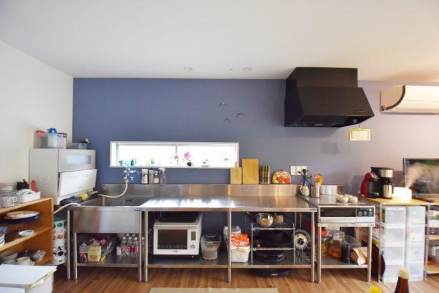 ステンレス × ブルーの映えるお家【リノベーション】の画像